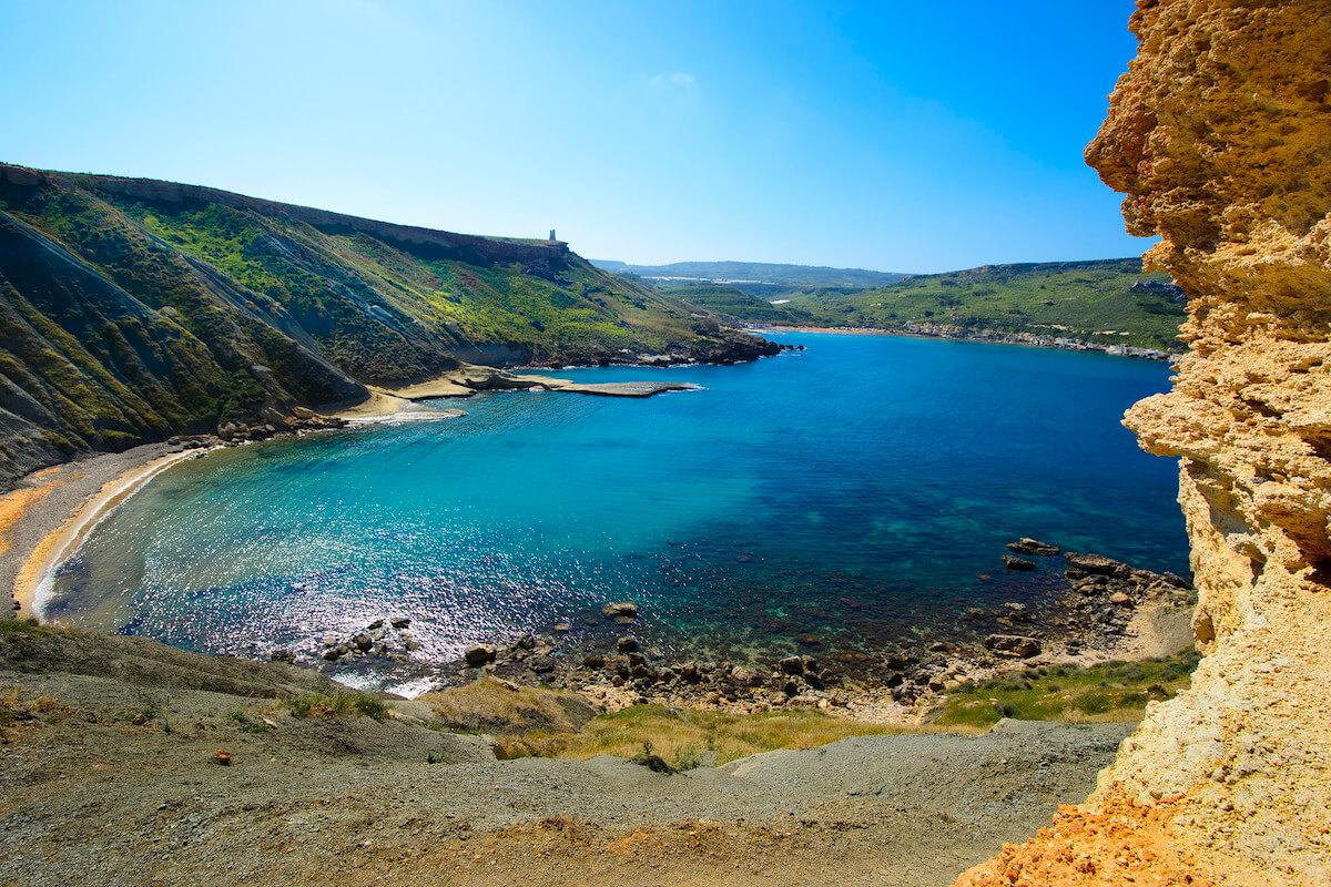 Spiaggia della Riviera, una delle migliori spiagge di Malta