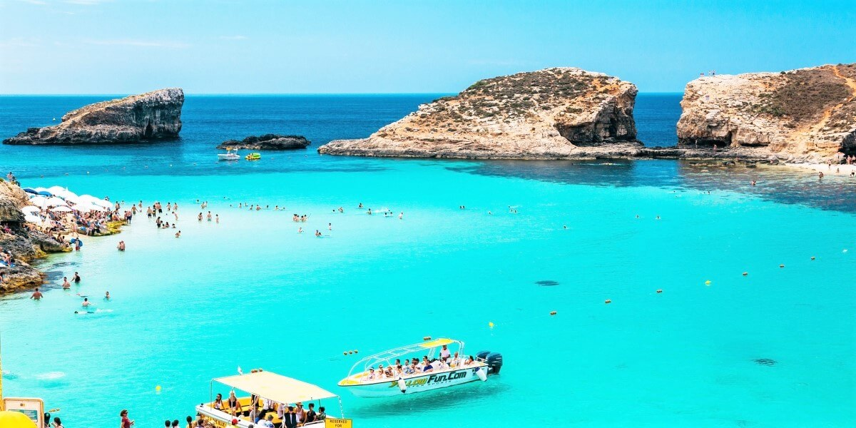 Barcos en Blue Lagoon Malta