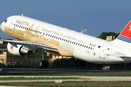 Partida do avião airmalta