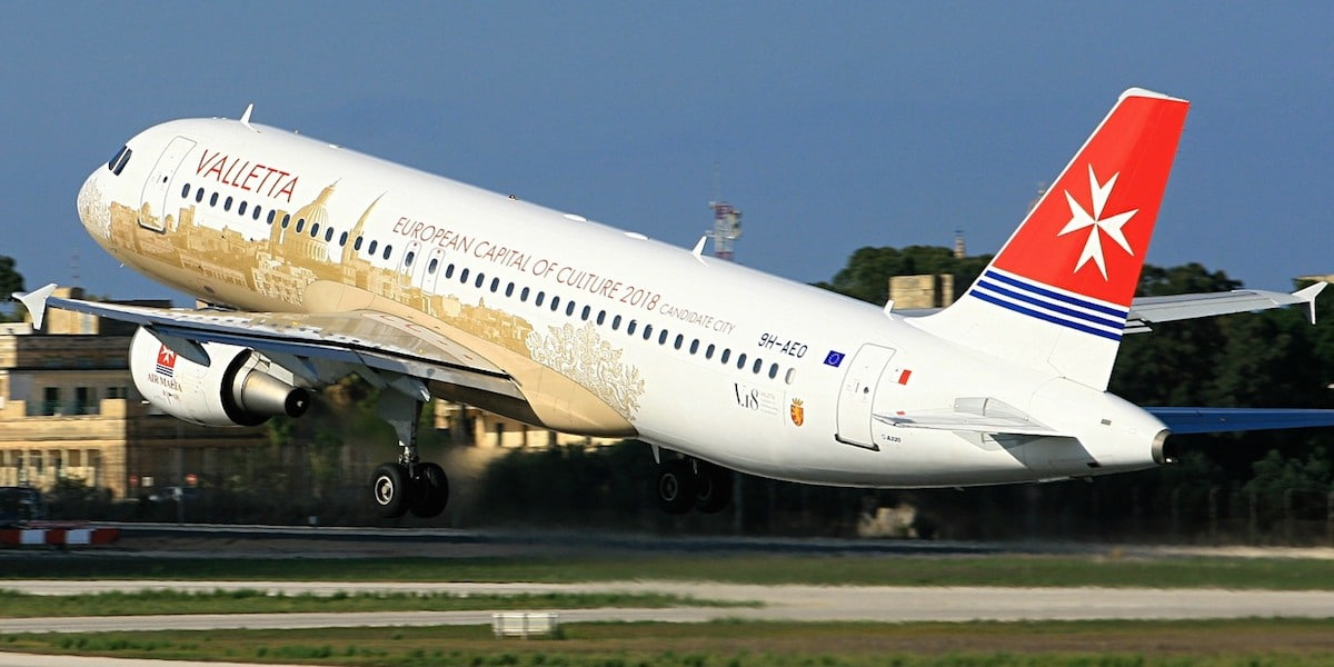 Voo de Airmalta a partir do aeroporto de Malta