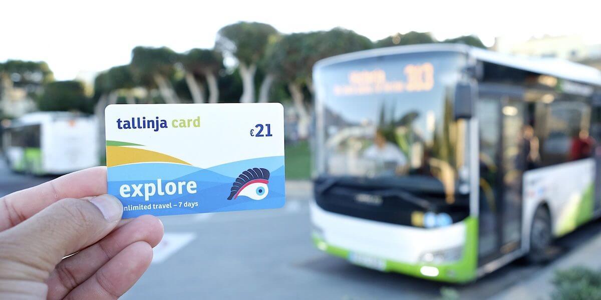 Tarjeta de autobús Malta Tallinja