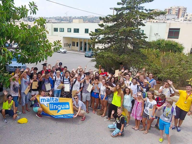 Gruppo di ragazzi in un corso estivo di inglese a Maltalingua